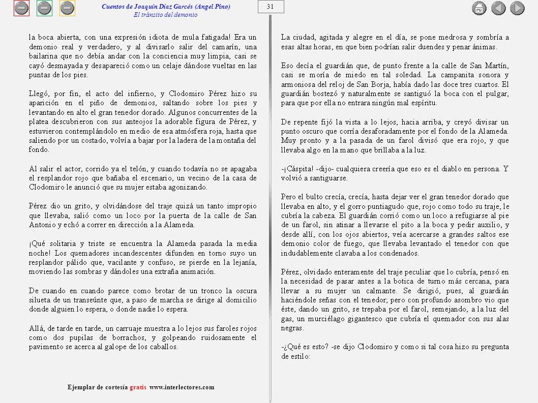 Cuentos de Joaquín Díaz Garcés (Angel Pino) El tránsito del demonio 31