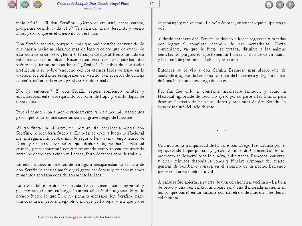 Cuentos de Joaquín Díaz Garcés (Angel Pino) Incendiario 37