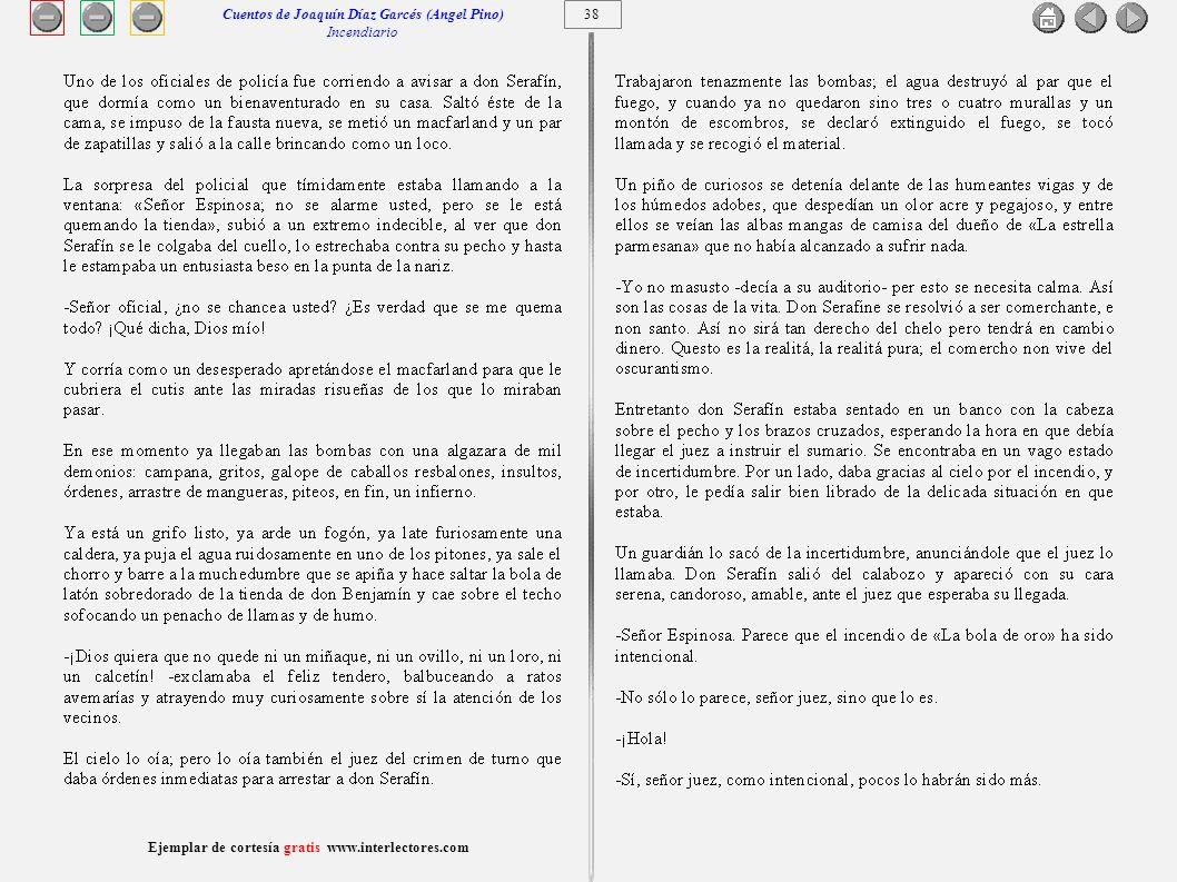 Cuentos de Joaquín Díaz Garcés (Angel Pino) Incendiario 38