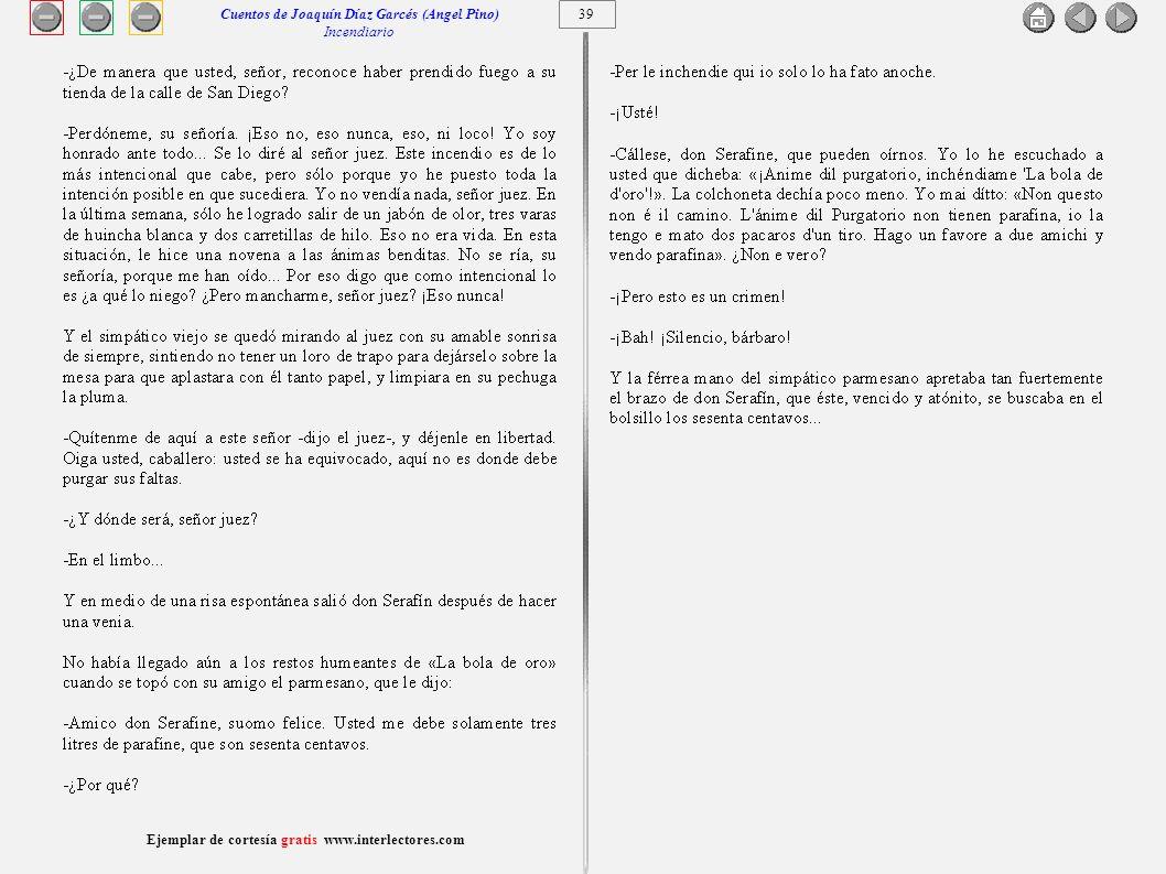 Cuentos de Joaquín Díaz Garcés (Angel Pino) Incendiario 39