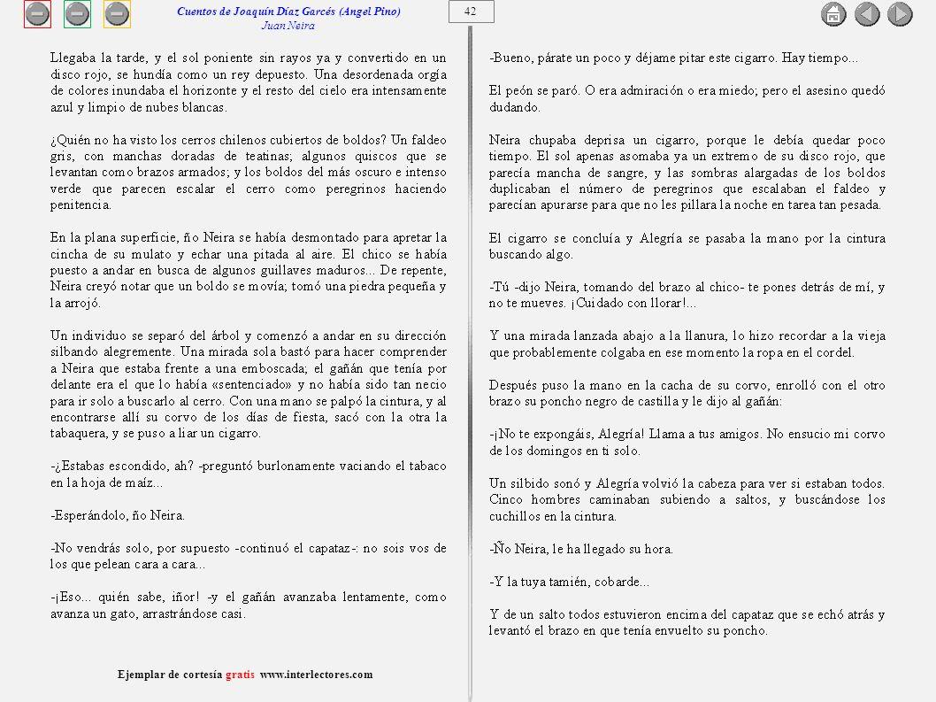 Cuentos de Joaquín Díaz Garcés (Angel Pino) Juan Neira 42