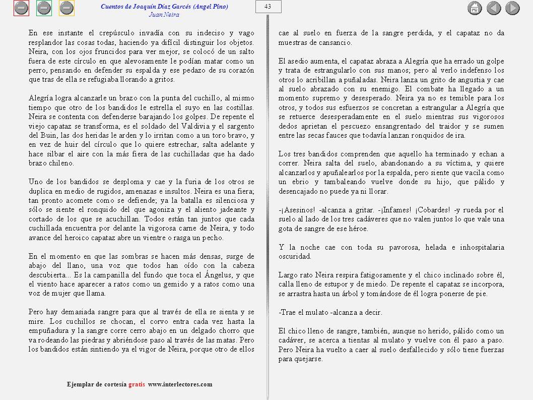 Cuentos de Joaquín Díaz Garcés (Angel Pino) Juan Neira 43