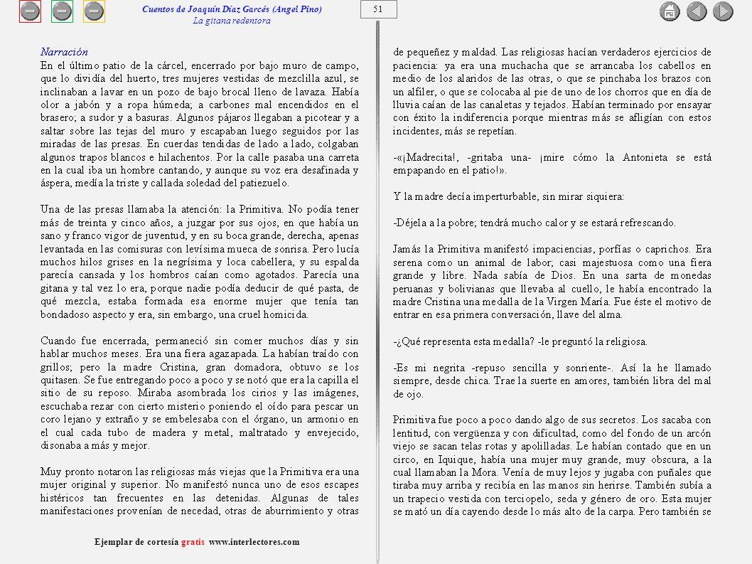 Cuentos de Joaquín Díaz Garcés (Angel Pino) La gitana redentora 51