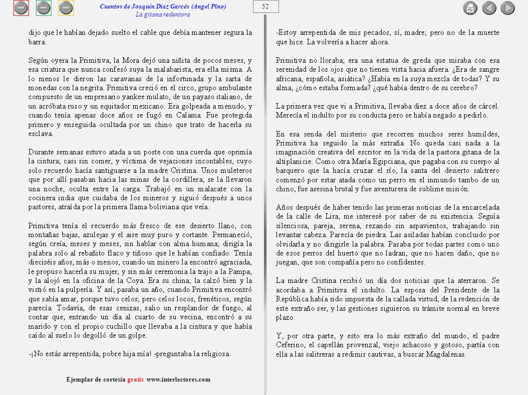 Cuentos de Joaquín Díaz Garcés (Angel Pino) La gitana redentora 52
