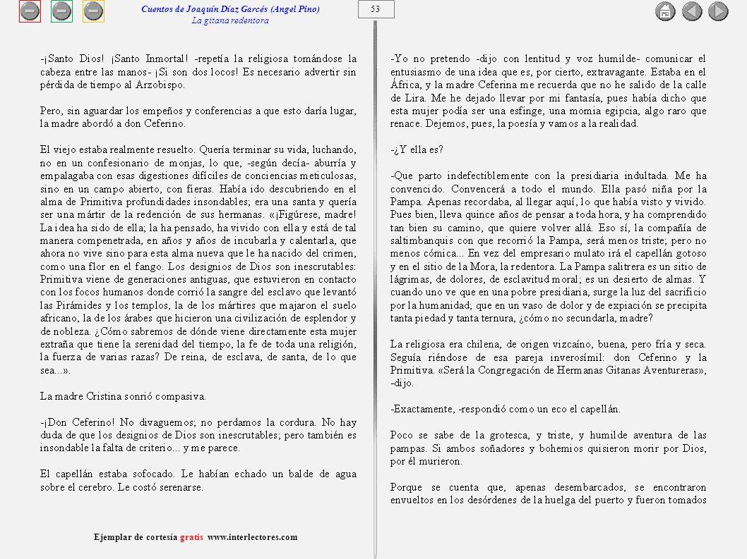 Cuentos de Joaquín Díaz Garcés (Angel Pino) La gitana redentora 53