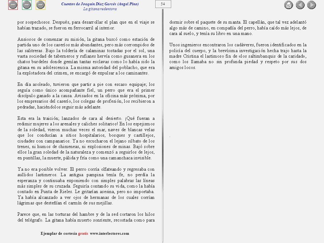 Cuentos de Joaquín Díaz Garcés (Angel Pino) La gitana redentora 54