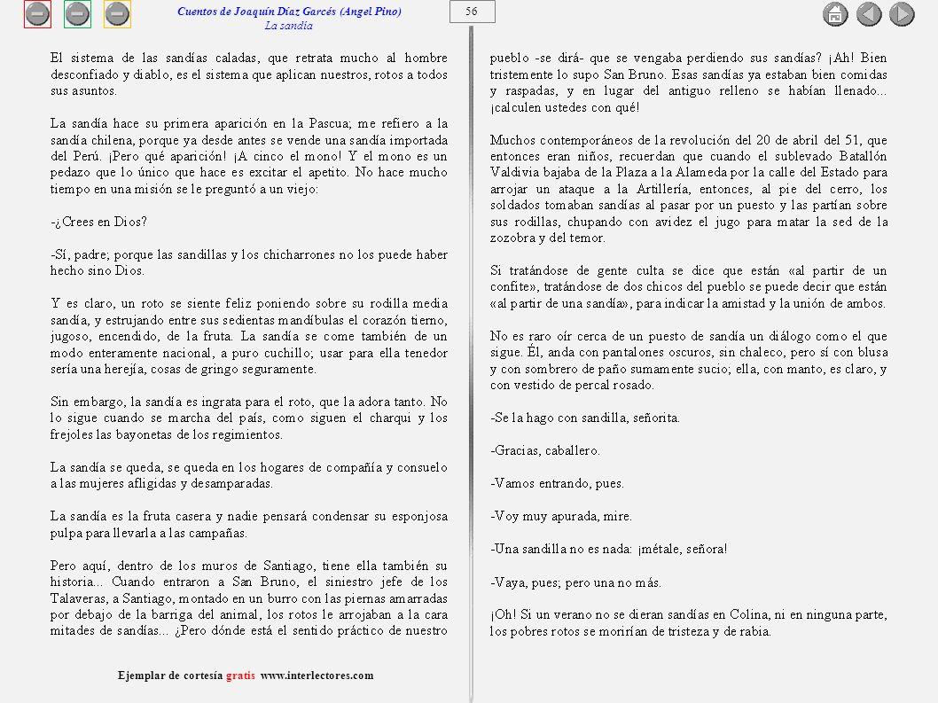 Cuentos de Joaquín Díaz Garcés (Angel Pino) La sandía 56