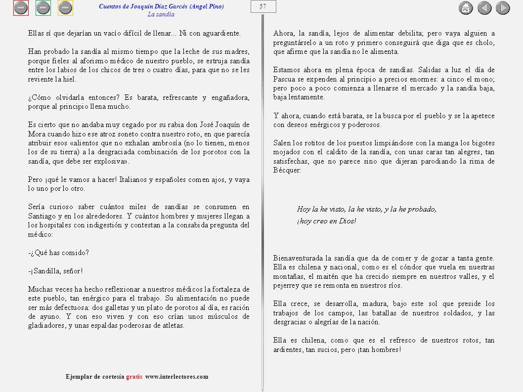 Cuentos de Joaquín Díaz Garcés (Angel Pino) La sandía 57