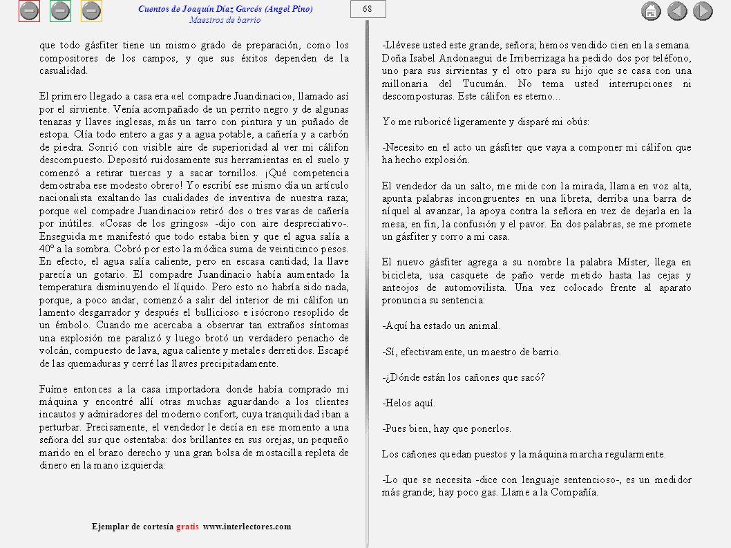Cuentos de Joaquín Díaz Garcés (Angel Pino) Maestros de barrio 68