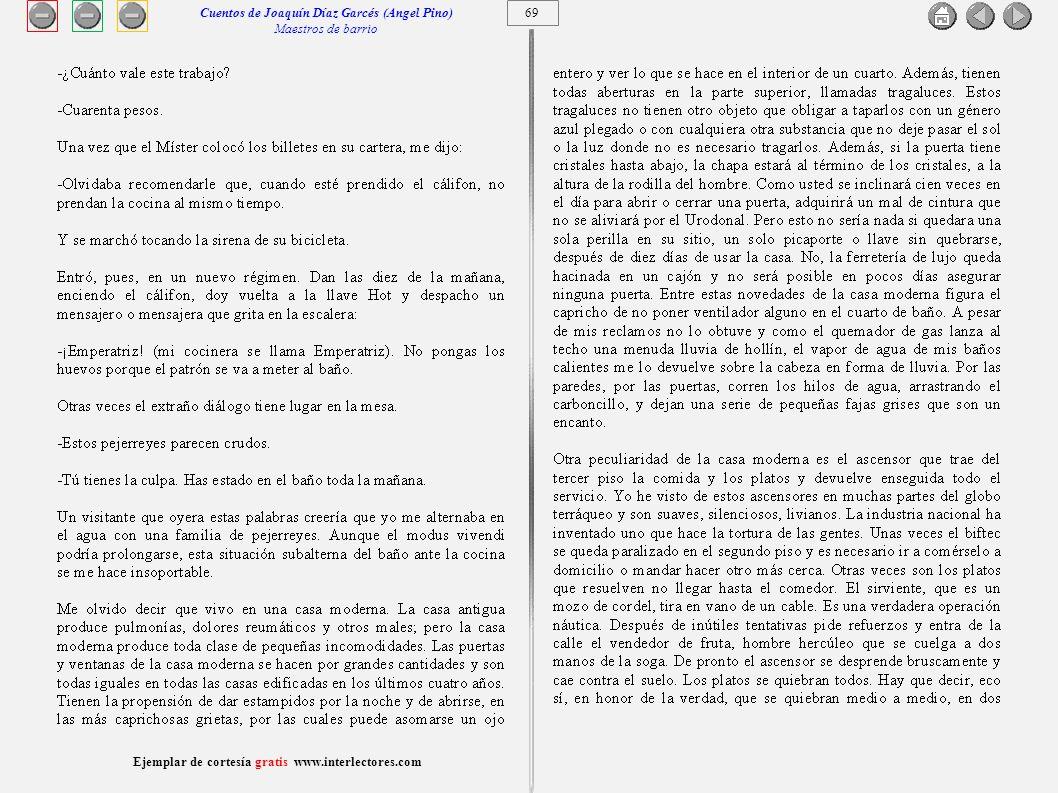 Cuentos de Joaquín Díaz Garcés (Angel Pino) Maestros de barrio 69
