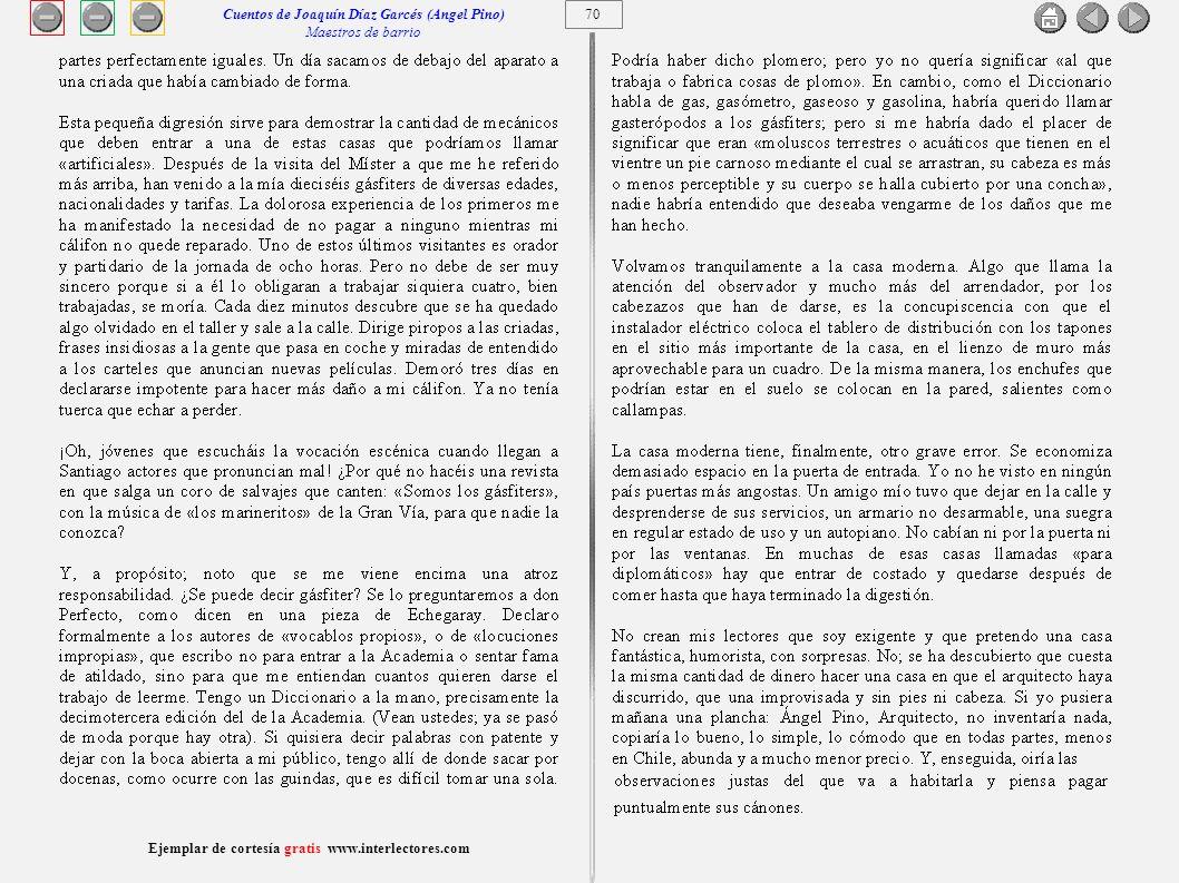 Cuentos de Joaquín Díaz Garcés (Angel Pino) Maestros de barrio 70