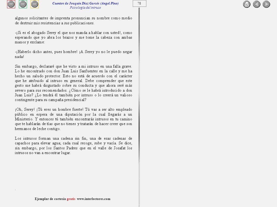 Cuentos de Joaquín Díaz Garcés (Angel Pino) Psicología del intruso 78