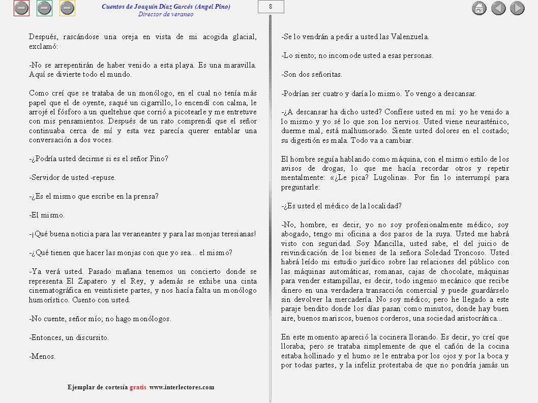 Cuentos de Joaquín Díaz Garcés (Angel Pino) Director de veraneo 8