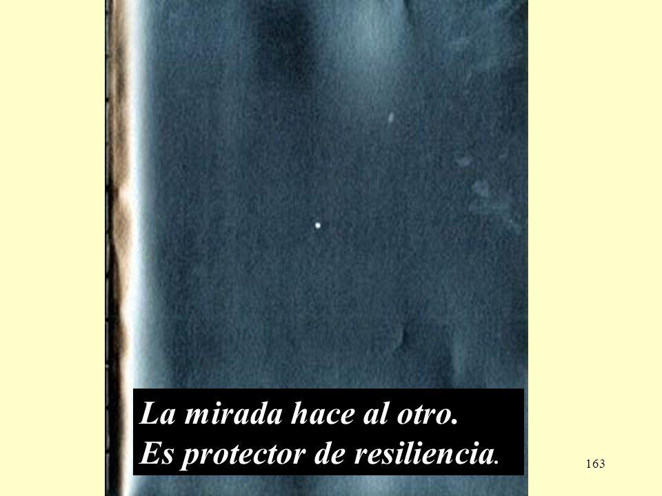 La mirada hace al otro. Es protector de resiliencia..
