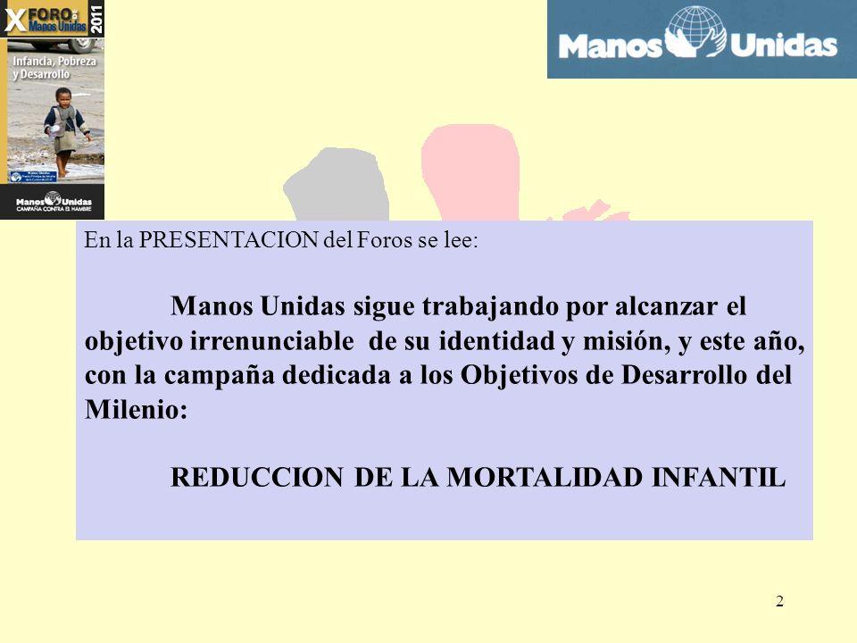 REDUCCION DE LA MORTALIDAD INFANTIL