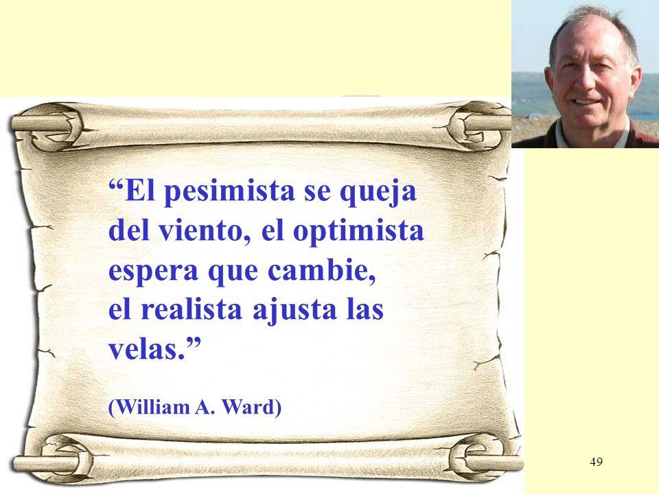 El pesimista se queja del viento, el optimista espera que cambie,