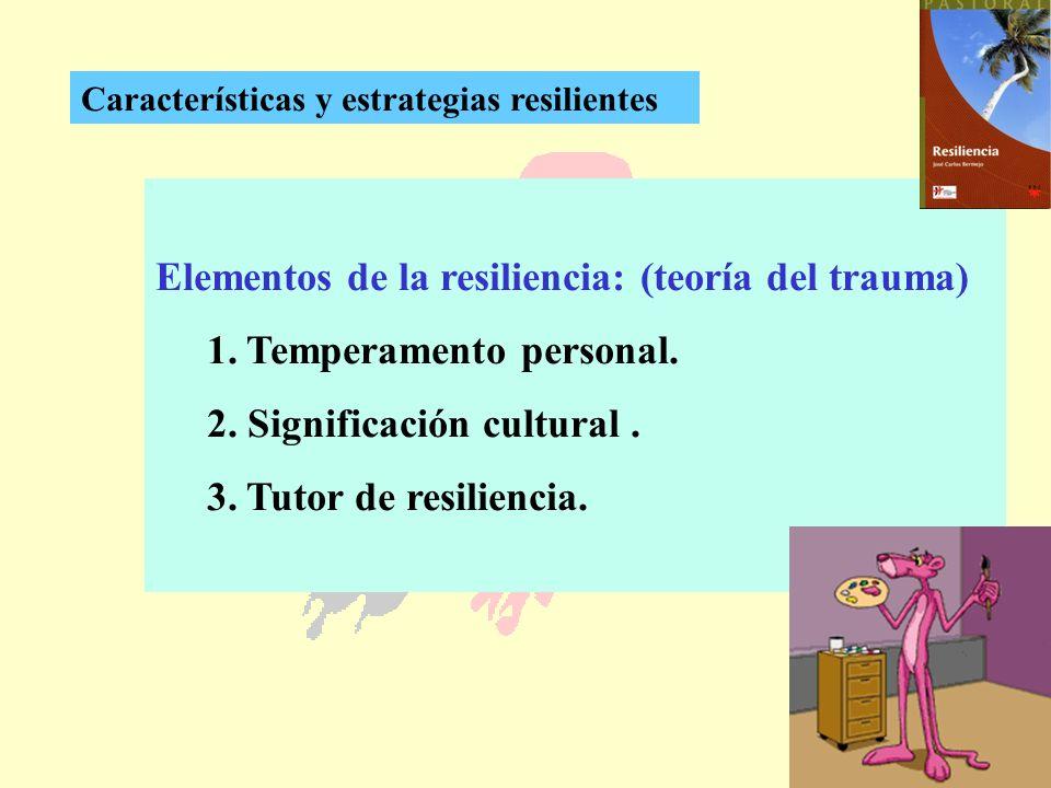 Elementos de la resiliencia: (teoría del trauma)