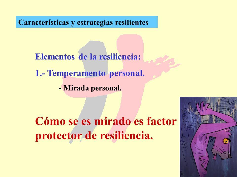 Cómo se es mirado es factor protector de resiliencia.