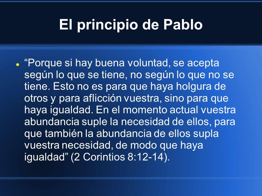 El principio de Pablo