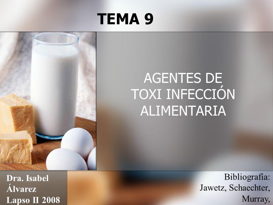 AGENTES DE TOXI INFECCIÓN ALIMENTARIA