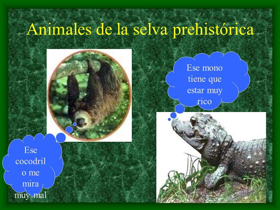 Animales de la selva prehistórica