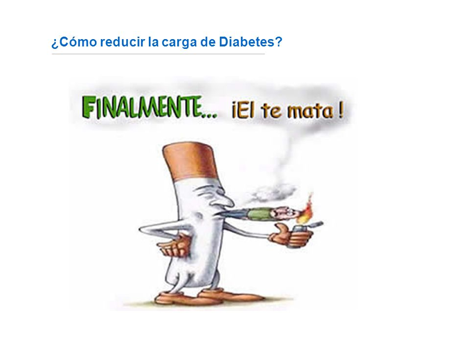 ¿Cómo reducir la carga de Diabetes