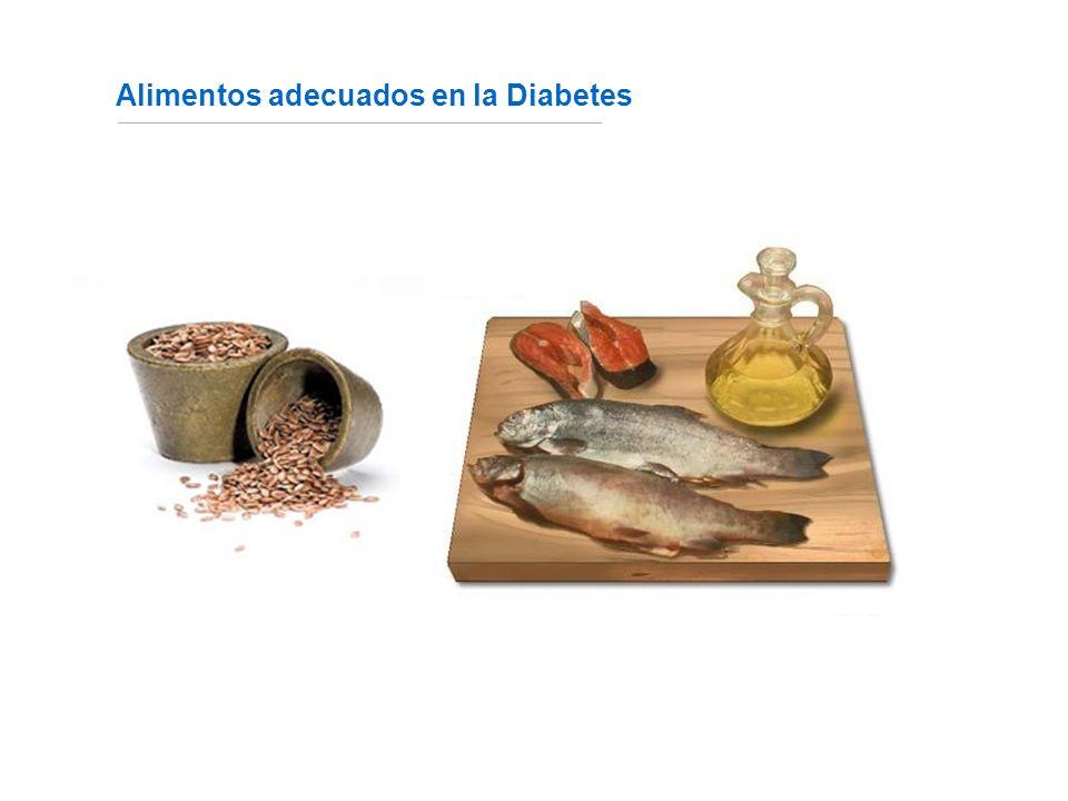 Alimentos adecuados en la Diabetes