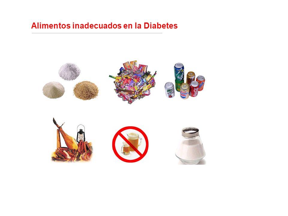 Alimentos inadecuados en la Diabetes