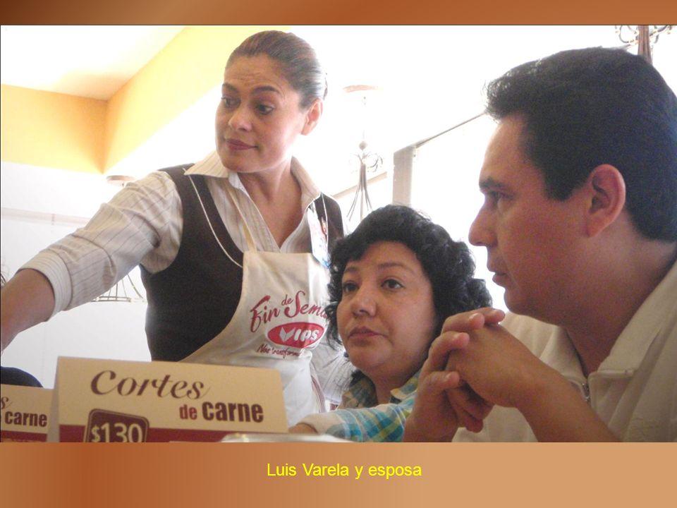 Luis Varela y esposa