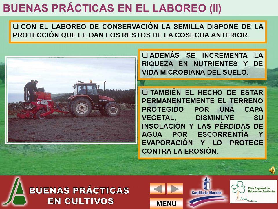 BUENAS PRÁCTICAS EN EL LABOREO (II)