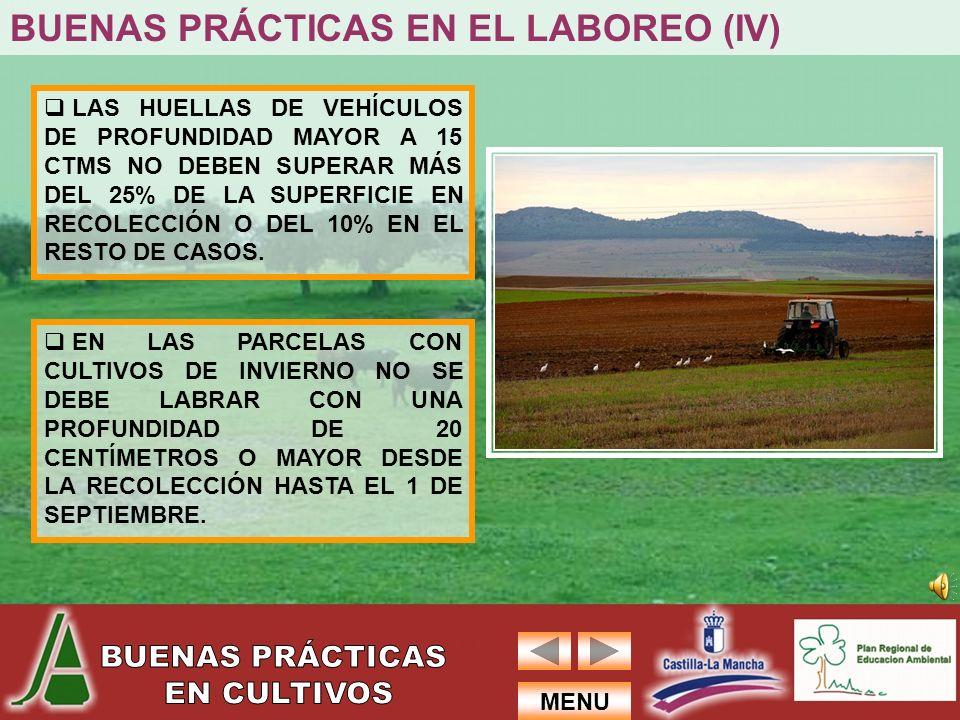 BUENAS PRÁCTICAS EN EL LABOREO (IV)