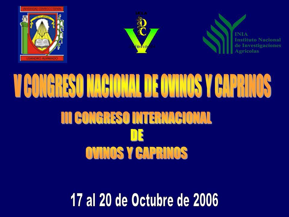 V CONGRESO NACIONAL DE OVINOS Y CAPRINOS
