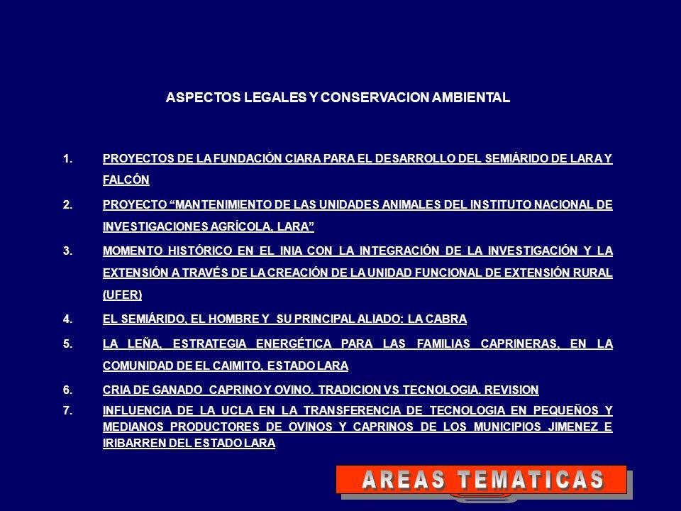ASPECTOS LEGALES Y CONSERVACION AMBIENTAL