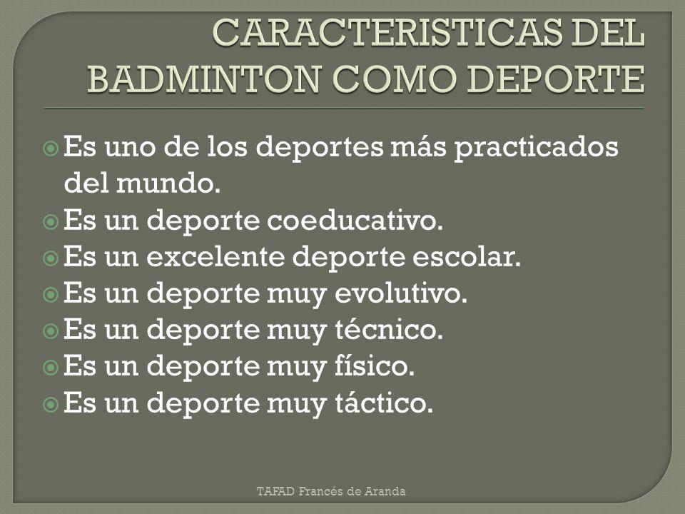 CARACTERISTICAS DEL BADMINTON COMO DEPORTE