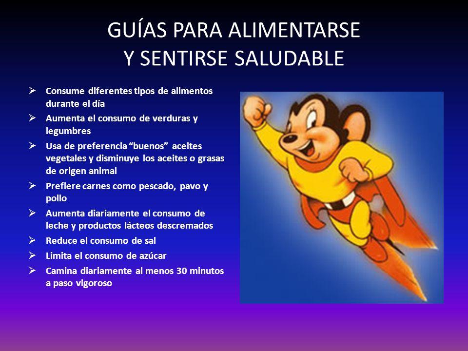 GUÍAS PARA ALIMENTARSE Y SENTIRSE SALUDABLE