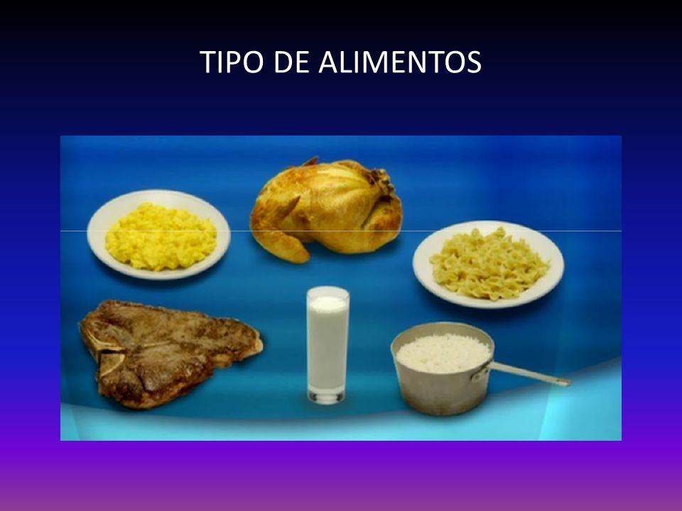 TIPO DE ALIMENTOS