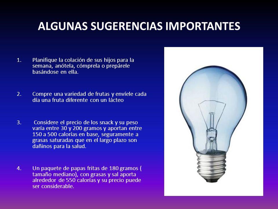 ALGUNAS SUGERENCIAS IMPORTANTES