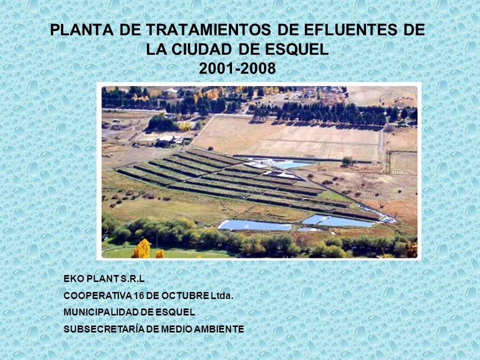 PLANTA DE TRATAMIENTOS DE EFLUENTES DE LA CIUDAD DE ESQUEL 2001-2008