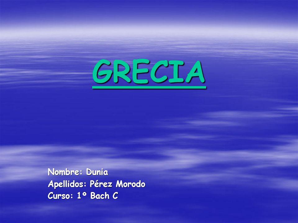 Nombre: Dunia Apellidos: Pérez Morodo Curso: 1º Bach C