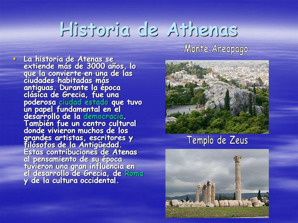 Historia de Athenas Monte Areopago Templo de Zeus