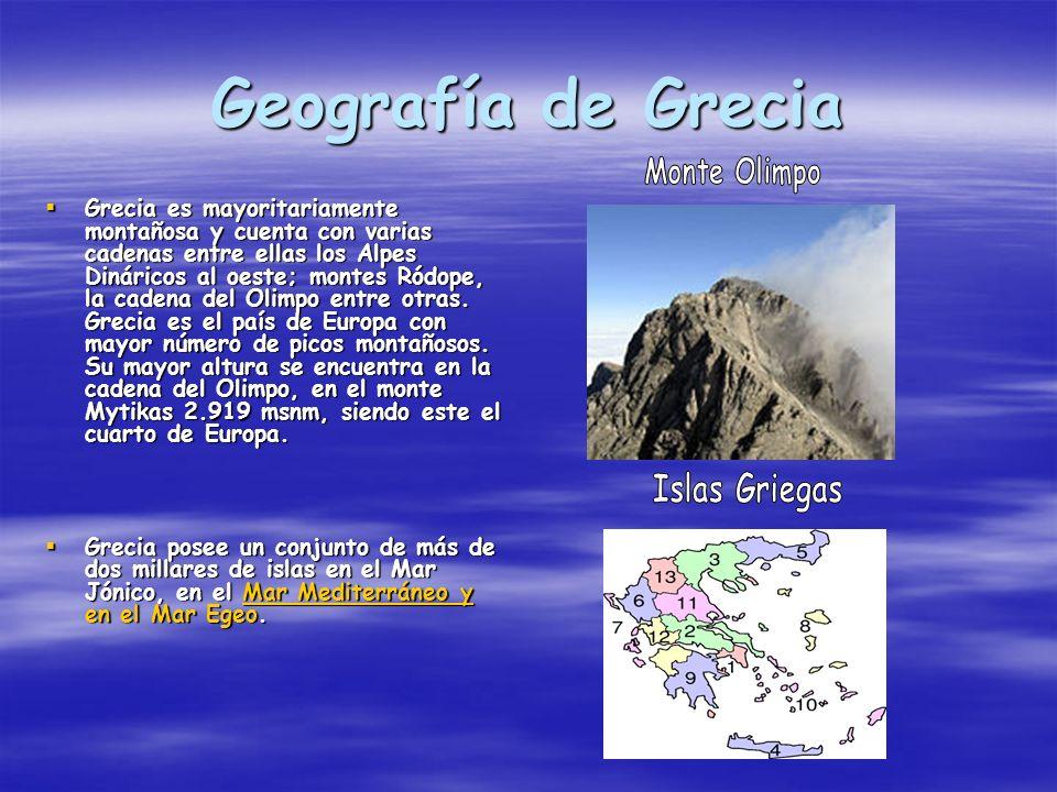 Geografía de Grecia Islas Griegas Monte Olimpo