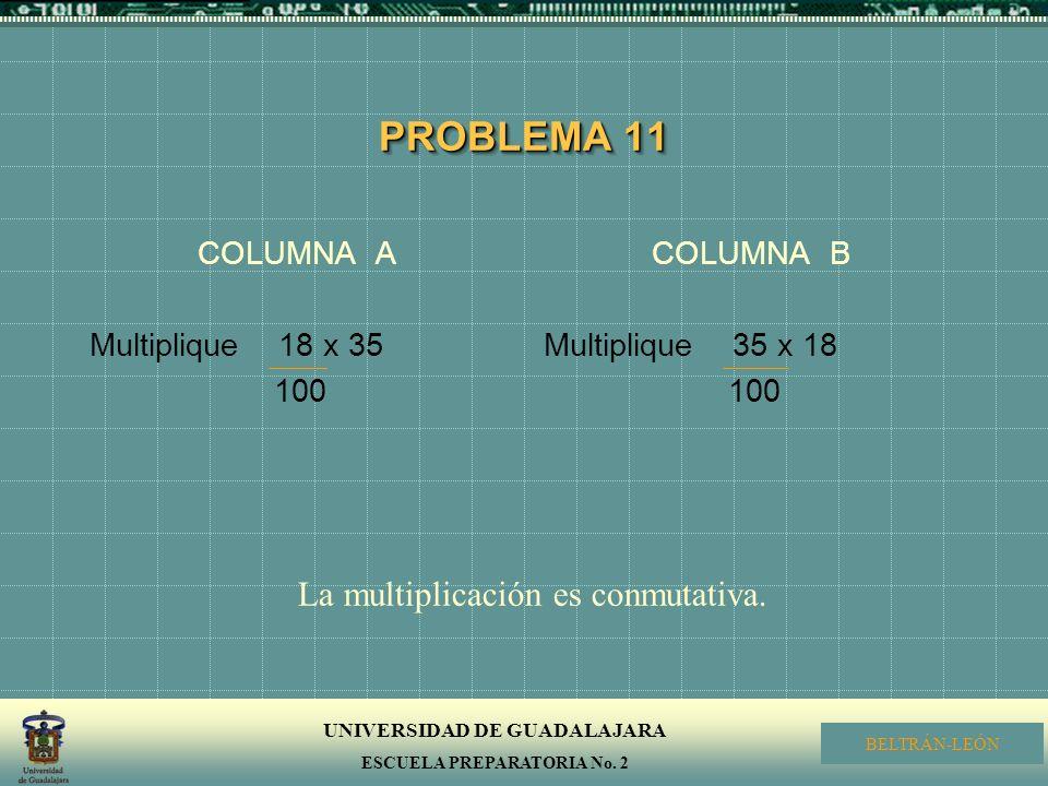 La multiplicación es conmutativa.