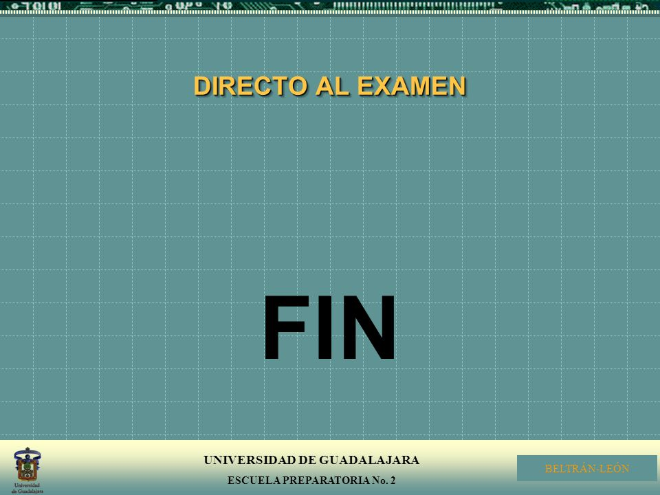 DIRECTO AL EXAMEN FIN