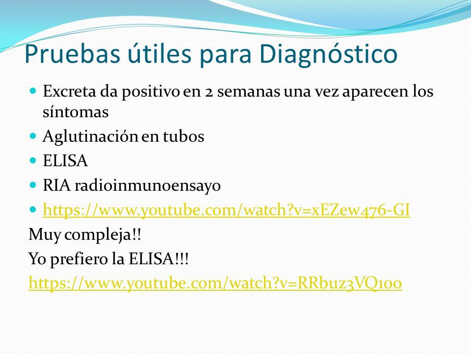 Pruebas útiles para Diagnóstico
