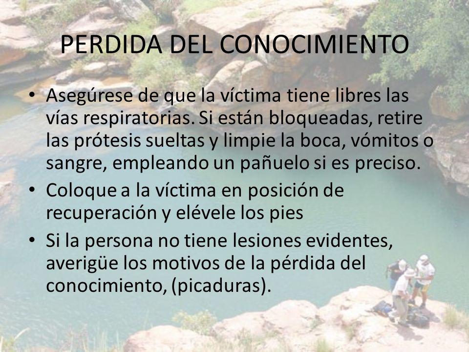 PERDIDA DEL CONOCIMIENTO