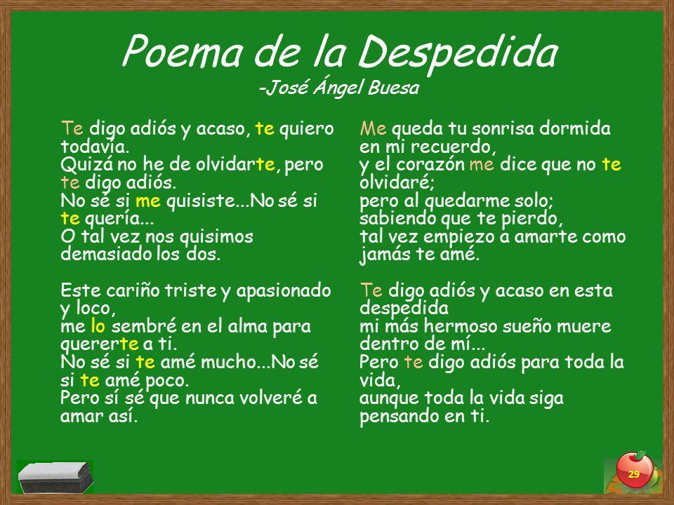 Poema de la Despedida -José Ángel Buesa