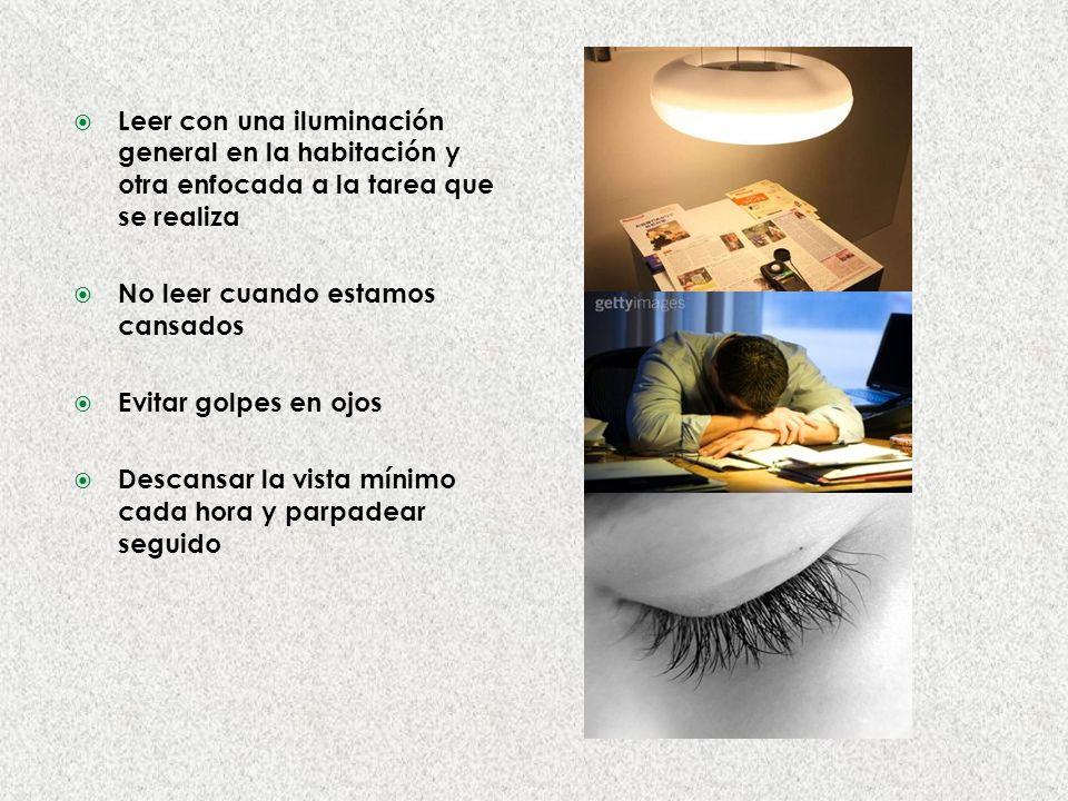Leer con una iluminación general en la habitación y otra enfocada a la tarea que se realiza