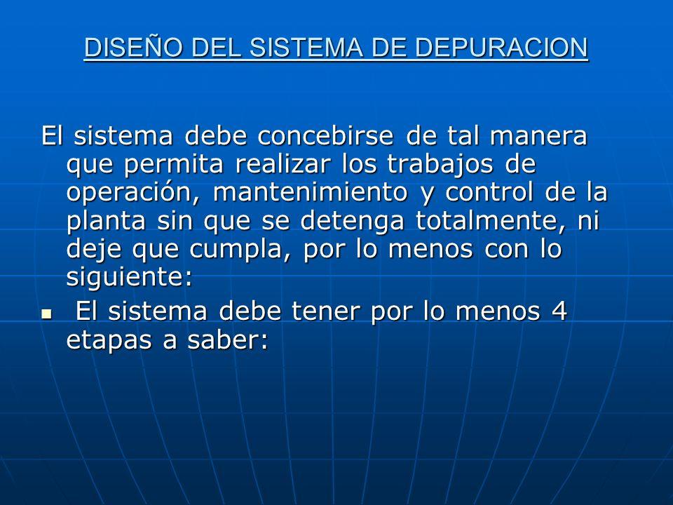 DISEÑO DEL SISTEMA DE DEPURACION