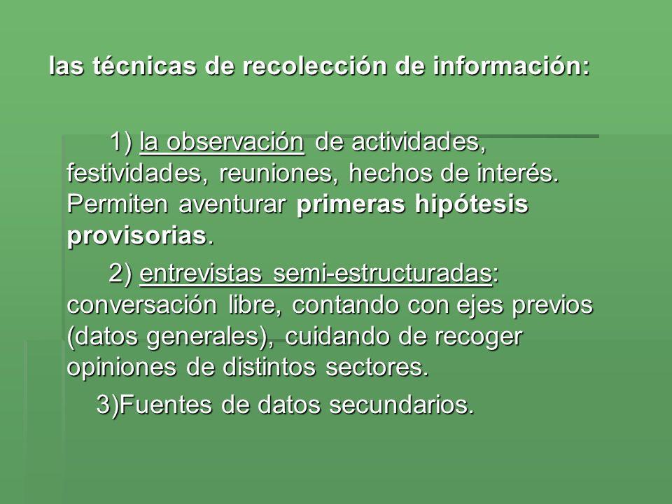 las técnicas de recolección de información: