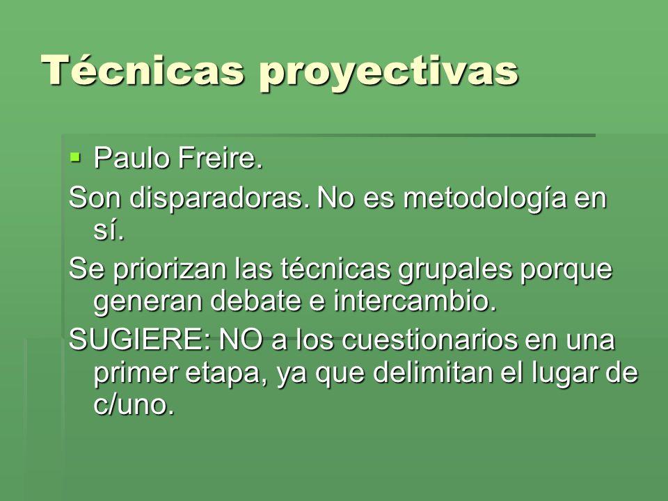 Técnicas proyectivas Paulo Freire.